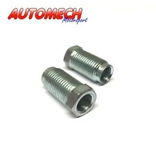"""Automech Brake Pipe union 1/2""""UNF for 5/16"""" Pipe Pack of 2, Plated Finish (U11)"""