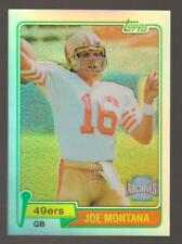 JOE MONTANA 2001 Topps Archives Reserve REFRACTOR SP 1981 Reprint Rookie Card RC