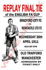 Bradford City - Vintage Football Poster POSTCARDS - Choose from list