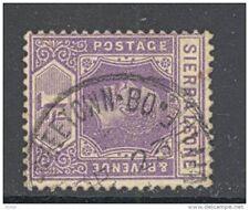 SIERRA LEONE, postmark  FREETOWN-BO TEMPORARY POST OFFICEstamp (D)