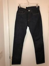 Ladies $295 Loomstate For Barneys Green White Oak Reflection Jeans Size 27 x 29