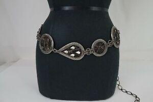 VTG Chico's Silver Tone Chain Waist Belt  - 50 in. Full Length
