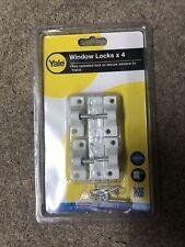 Yale 8K118 Window Lock White Finish Pack of 4  New Free Post