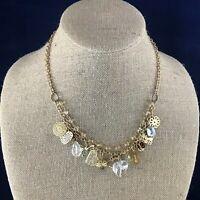 Fabulous vintage estate find Engaging Goldtone Multi Pendent Necklace A5
