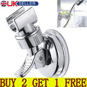 Bathroom Adjustable Shower Head Holder Suction Bracket Wall Mount Handset UK