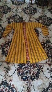 Unique Vintage Unisex Uzbek yellow Coat Chapan Jaket robe for  Men or women D-2B