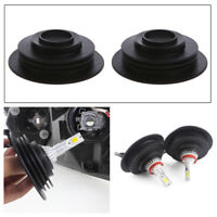 2x Universal Headlight Dust Cover Cap 3.2cm For LED HID Xenon Halogen Bulb Good
