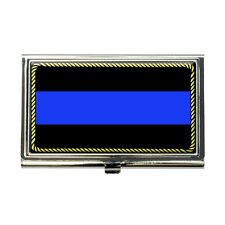 Thin Blue Line Business Credit Card Holder Case