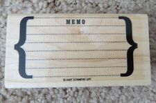 New Home Business Office Write a Memo wood Rubber Stamp card supplies Stampin Up