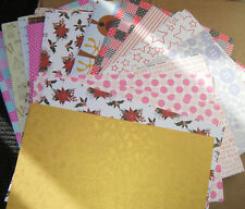10 sheets Random Mixed Colours A4 Card stock crafts Sale Clearance patterns
