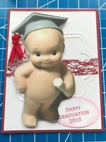 Graduation card With Classic Diploma And Cap Tasssell All Handmade