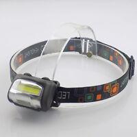 Mini led COB headlamp flashlight high power bright AAA head torch lamp Camping