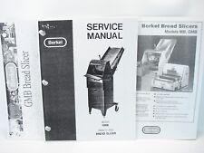 Berkel Gmb Bread Slicer Service Manual Parts Manual Amp Specification Sheet