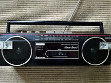 Vtg 80s HITACHI TRK-6400H Boombox Portable FM/AM Cassette Recorder Player-Works!