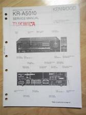 Kenwood Service Manual ~ KR-A5010 Receiver ~ Original Reparatur Buch