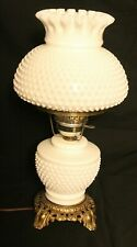 Vtg Gone with the Wind GWTW Milk Glass Hobnail 3 Way Setting ornate Table Lamp