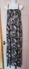 Brand New B.YOU Black & White Floral Maxi Dress - size 16/18