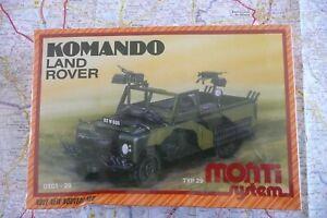 LAND ROVER Komando Militaire Maquette MONTI System par VISTA 1/48 Neuf en Boite