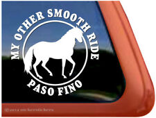 My Other Smooth Ride - Paso Fino Horse Trailer Window Decal