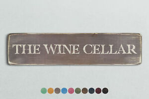 THE WINE CELLAR Vintage Style Wooden Sign. Shabby Chic Retro Home Gift