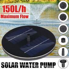 150L/H Bird Bath Fountain Solar Powered Water Pump Floating Outdoor Pond Garden