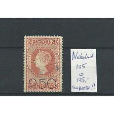 Nederland 105 SUPERBE  VFU/gebr  CV 125 €