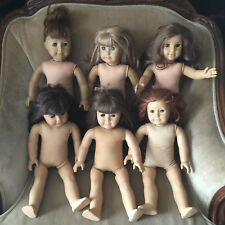"American Girl Pleasant Company 18"" Lot 6 Dolls TLC Parts Repair Asian Felicity"