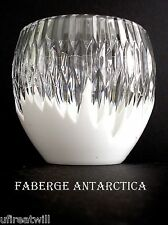 1 FABERGE GLACON ANTARCTICA OPAL CASED CUT TO CLEAR CRYSTAL WHISKEY ROCKS SIGNED