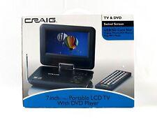 Craig CTV1703 7-Inch Combo Swivel LCD TV w/ DVD Player USB/SD Card Slot see desc