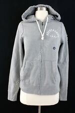 NWT Abercrombie And Fitch Women Logo Graphic Hoodie Grey Medium