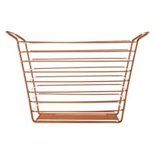 Large Rose Gold Storage Shine Wire Basket Copper Plated Bathroom Tidy