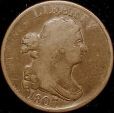 1807 Draped Bust Half Cent~ CHOICE VF