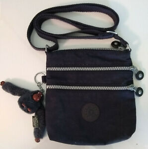 Kipling Purse Black Crossbody Zip Bag Dorothy Gorilla Chimp Charm Fob