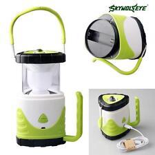 Skywolfeye LED Camping Tent Light Lantern Hiking Lamp USB Rechargeable Green MT