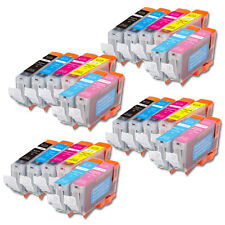 24PK Combo Printer Ink with pc pm for Canon CLI-8 iP6600D iP6700D