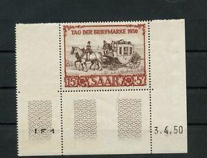 Germany Saar Saarland Jahrgang 1950 Mi. 291 Br postfrisch ** MNH (3)