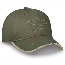 Chevrolet Bowtie Digital Camo Green Chino Cotton Twill Unstructured Hat