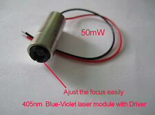 405nm 50mW Blue-Violet blu-ray Focus adjustable Blue Laser module lazer diode