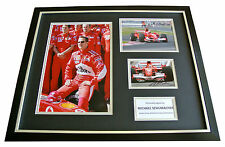 MICHAEL SCHUMACHER SIGNED & FRAMED HUGE PHOTO DISPLAY AUTOGRAPH F1 SPORT & COA