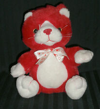 "Carlton Cards 6"" Tall (sitting) Red Valentine's Cat"