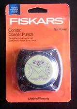 Fiskars SUNFLOWER Combo Corner Paper Punch - Cuts and Embosses! Scrapbook  NIP