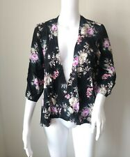 Forever 21 womens floral kimono size medium black pink