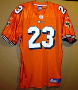 MIAMI DOLPHINS RONNIE BROWN Orange #23 AUTHENTIC NFL Football Size 54 JERSEY