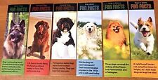 NEW! 24 DOG FUN FACTS BOOKMARKS PARTY FAVORS SCHOOL REWARD BOOK CLUBS PUPPIES