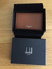 DUNHILL OF LONDON GOAT BUSINESS CARD CASE BROWN £295 SOFT LEATHER NEW WITH BOX