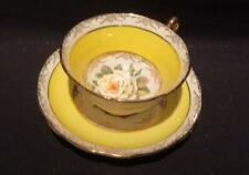 Regency Lovely Vintage Tea Cup & Saucer Yellow Cabbage Rose