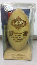 Baltimore Ravens Super Bowl XXXV Champions NFL Football Laser Engraved Wood ball