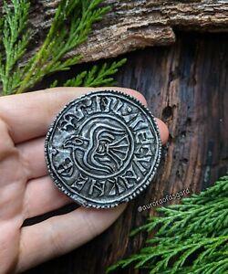 10th Century Viking Raven Coin Magnet, Norse Gift, Pagan, Huginn, Muninn Odinist