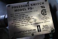 Pyronics GREEN PS-BW Pressure Switch 1 PSI 120/220 VAC Air/Gas *used* (B225)