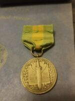 #1959 U.S. ARMY MEXICAN BORDER SERVICE MEDAL WRAP BROOCH RIBBON  BAR NUMBERED